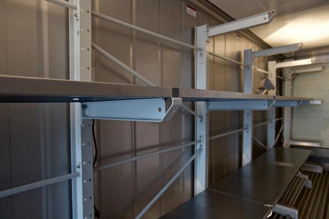 So sieht es im Inneren des Containers aus. (Bild: M. Yoshida)
