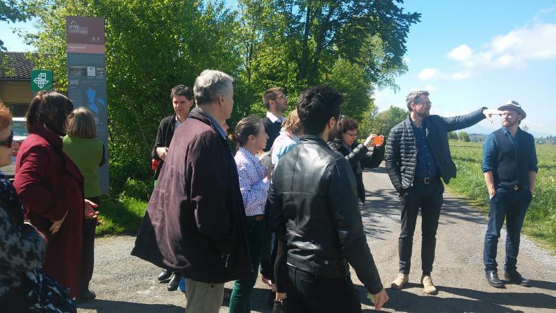 Zum Abschluss besuchten wir gemeinsam die UNESCO-Welterbestätte Zug-Sumpf. (Bild: Carmen Löw - Kuratorium Pfahlbauten)