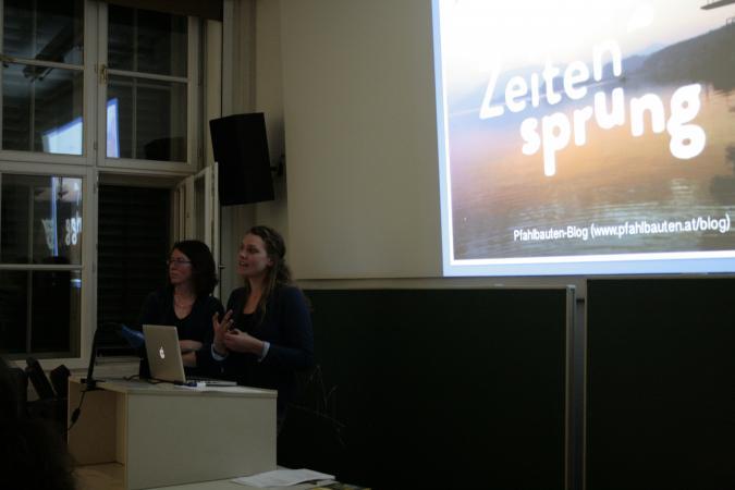 Nach dem Vortrag folgte eine interessante Diskussionsrunde. (Bild: C. Löw - Kuratorium Pfahlbauten)