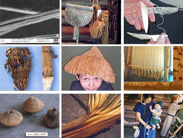 Collage Steinzeit-Textilien (Bild: K. Grömer - Naturhistorisches Museum Wien)
