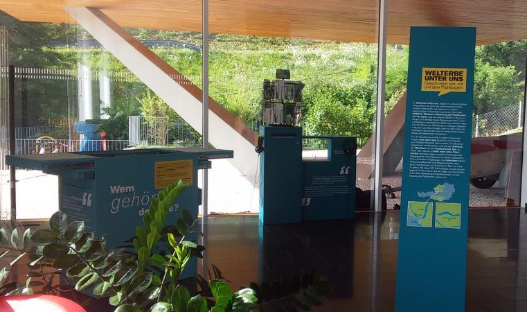 """""""Welterbe unter uns"""" im Informationszentrum des Naturparks Attersee-Traunsee in Steinbach. (Bild: Kuratorium Pfahlbauten)"""
