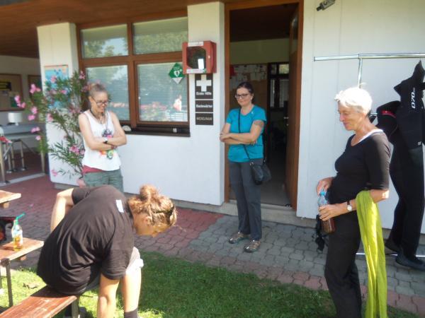 Bärbel war zwei Wochen lang als Citizen Scientist Teil des Grabungsteams in Weyregg. (Bild: Florian Ostrowski - Kuratorium Pfahlbauten)