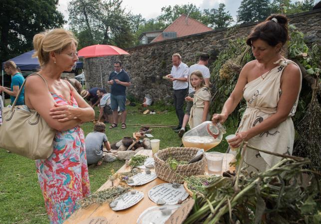 Für Köstlichkeiten aus der Steinzeit sorgte Astria Ablinger. (Bild: Michael Tavernaro)