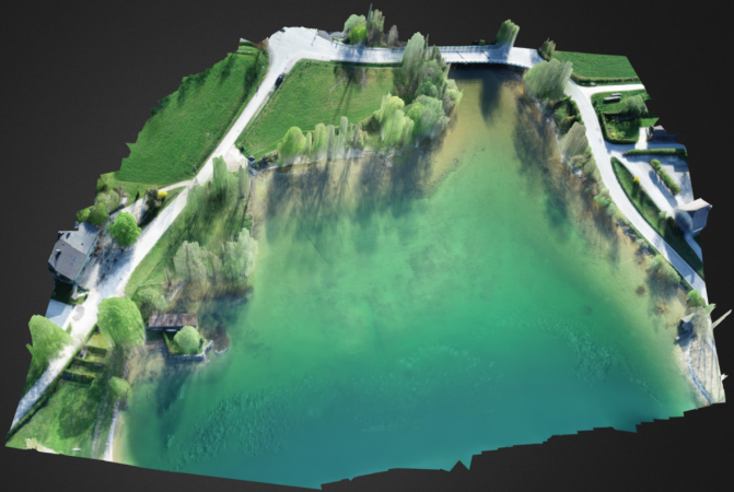 Geländemodell von See, Mondsee. (Bild: Archaeonautic)