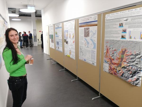 """Poster-Präsentation an der Universität Bern. Poster Julia Klammer: """"Lake view has always been an issue"""""""