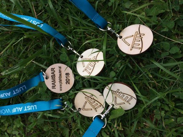 Die Kinder erhielten Medaillen für ihre Teilnahme. (Bild: Kuratorium Pfahlbauten)