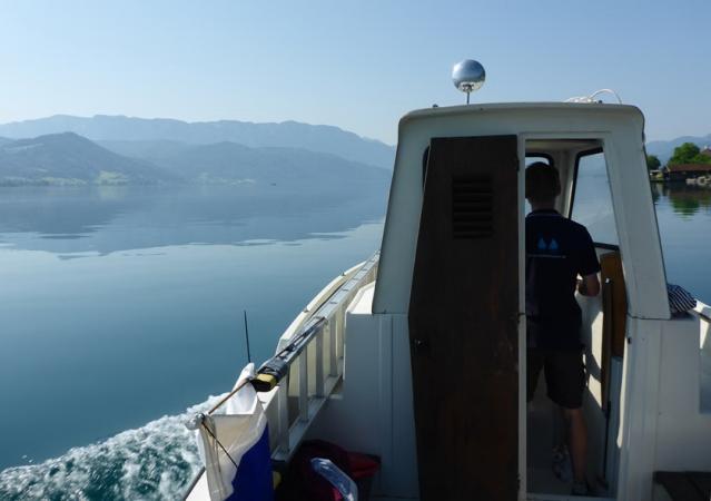 """Das Arbeitsboot """"Seehund"""" wurde uns vom Yachtservice Gebetsroither zur Verfügung gestellt. (Bild: Kuratorium Pfahlbauten)"""