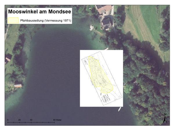 """Die Fundstelle """"Mooswinkel"""" wurde 1970 von einem Tauchteam unter der Leitung von Johann Offenberger entdeckt und ein Jahr später genauer in seinder Ausdehnung erfasst."""