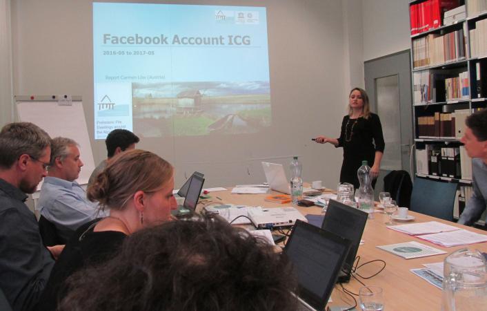 Carmen Löw erstattete Bericht über die erfolgreiche Entwicklung des ICG-Facebook-Accounts. (Bild: Daria Banchieri)