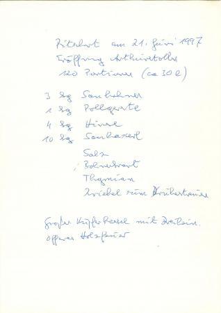 Zum Nachkochen: Das Ritschert-Rezept von Barth. (Bild: E. Barth)