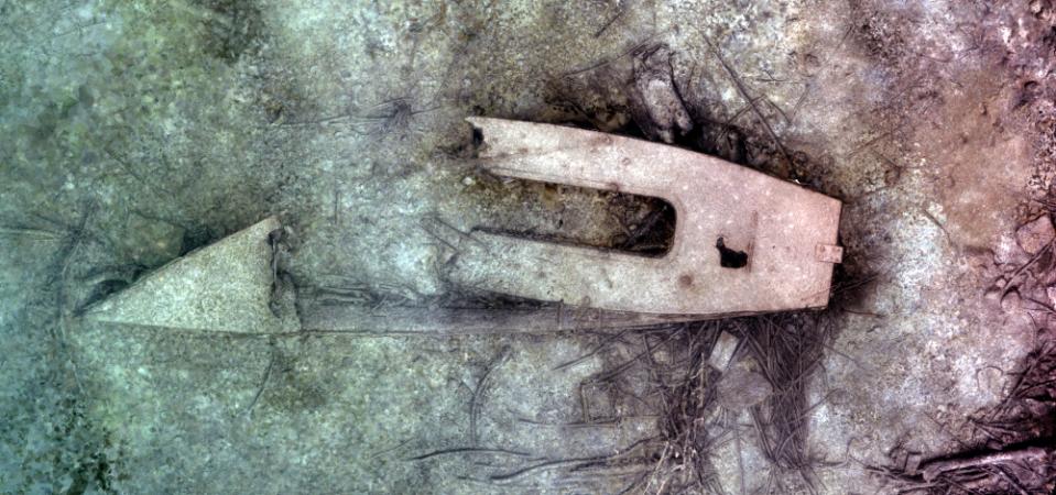 Bootswrack im Mondsee. (Bild: Archaeonautic)