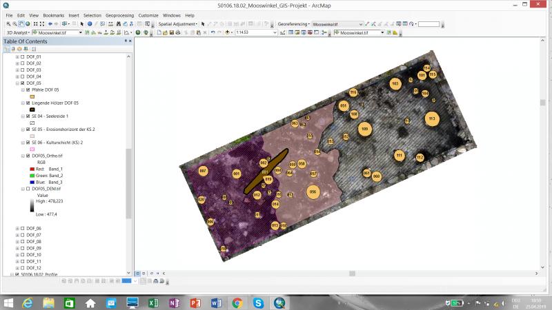 In einem Geoinformationssystem (GIS) werden die Daten zusammengespielt. (Bild: OÖLM - Kuratorium Pfahlbauten)