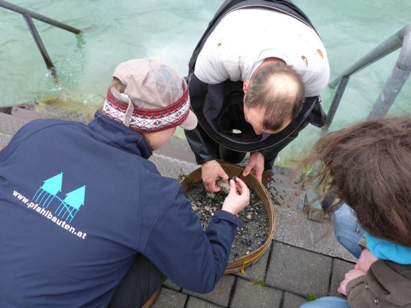 Martin Mainberger hat unserem Grabungsteam in Seewalchen bei der Frühjahrskampagne mit Rat und Tat zur Seite gestanden. (Foto: Kuratorium Pfahlbauten)