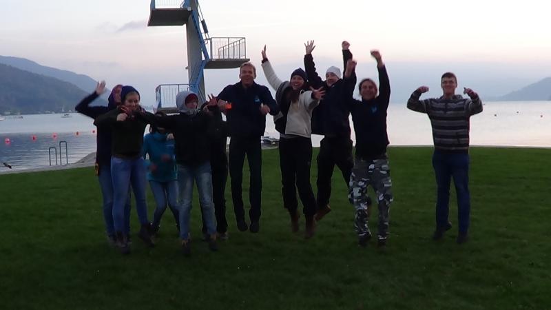 Das Team hat sich sehr über das große Interesse an der Forschung in Seewalchen I gefreut. (Bild: C. Löw - Kuratorium Pfahlbauten)