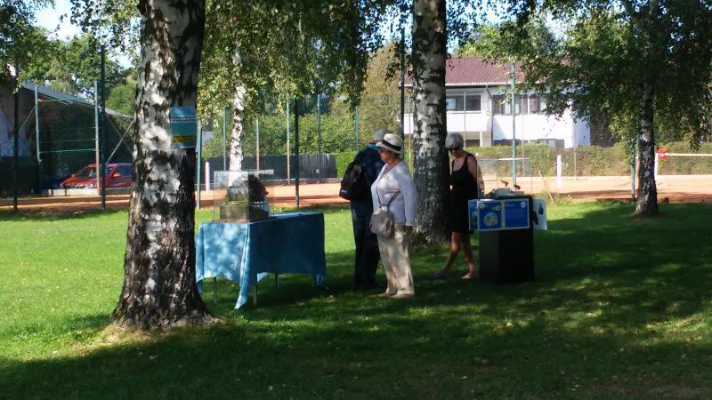 Teile der Ausstellung, die sonst für die Dauer der Grabung in der Schule Weyregg zu sehen ist, konnte man am Tag der offenen Grabung in ungewohnter Umgebung besichtigen. (Bild: Kuratorium Pfahlbauten)