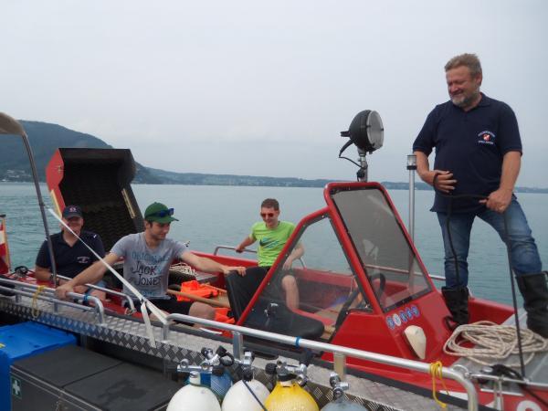 Die Mannschaft aus der Steiermark war auf dem Attersee gestrandet. (Bild: Florian Ostrowski - Kuratorium Pfahlbauten)